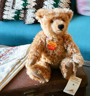 Beautiful Steiff Mohair Bear 665196  Great Bear Buttons Tags