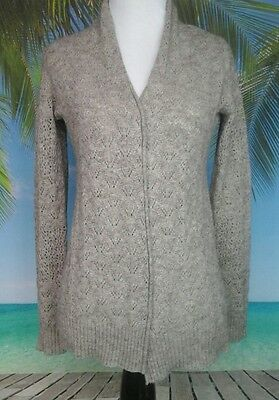 Women's Oh Baby by Motherhood Maternity Sweater Size Small Tan Buttonless