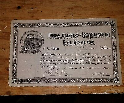 utica, clinton and binghamtom railroad bonds