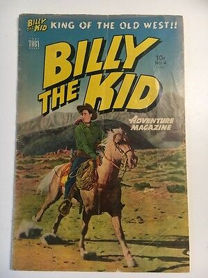 Billy the Kid Adventure Magazine (1950) #4  Western Comic  Golden Age