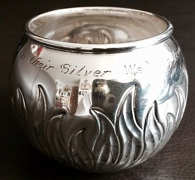 "Vintage (1956) Hallmarked Richard Comyns Sterling Silver ""Witchball"" Ashtray"