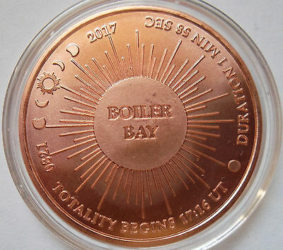 NEW! Eclipse Across America / Boiler Bay (OR) pure copper medal