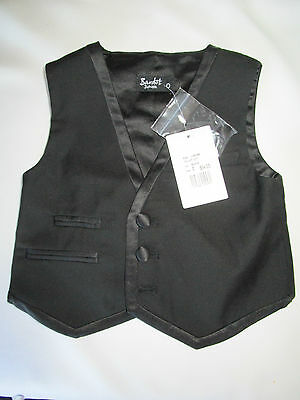 Boys Bardot black Tux Suit Vest formal vest for wedding  Size 0 & 2