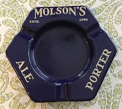 MOLSON'S ALE PORTER vintage Enameled Metal ashtray