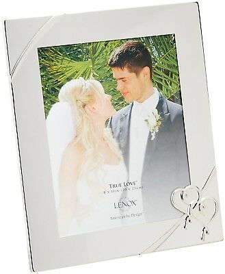 Heart Theme Picture Frame 8x10 Built-in Easel Tabletop Display Silver-Plated