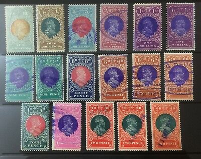 New South Wales Clean Group KEDVII Revenue Duty Issues to 10/- GOLD & Grey-blue