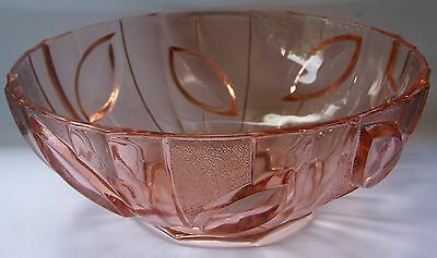 Pink Depression Glass Bowl - 22 cm diameter