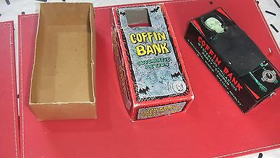 Collectable Tin Coffin Wind up Money Bank with Original Box Made in Japan