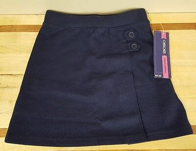 Cherokee School Uniform Girls Cute Skort Skirt with Shorts Size 5/5T Navy Blue
