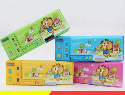 7333 Kids Primary School Student Cases Boys/Girls Multifunction Pencil Case Box