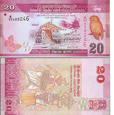 Sri Lanka /Ceylon 20 Rupee Bank Note 2010