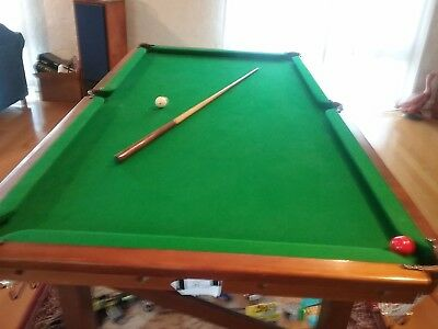 """Pool Table 7ft x 3.5ft 1"""" Slate Bed"""