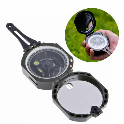 High Precision Magnetic Pocket Transit Geological Compass /w Scale 0-360 Degree