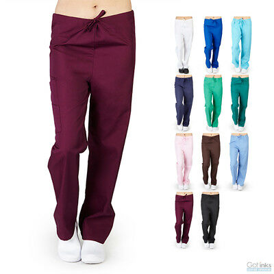 Unisex Men/Women Classic Full Drawstring Scrub Pants Hospital Medical Uniform