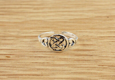 Celtic Rope Design Sterling Silver Toe Ring Mens Womens Tribal Boho Round Circle