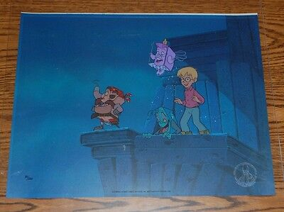 "Hanna-Barbera  Hand-painted sericel    ""Page Master""  Limited Edition"
