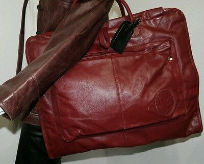 Burberry 💯% Authentic All Leather Garment Carrier Luggage Travel Bag