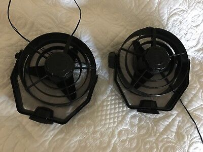 Hella fans, two in working order, black colour