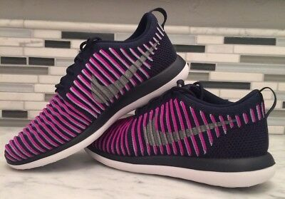 bfd681ab16 Nike Shoes Roshe Two Flyknit (GS) Purple Silver Navy 5Y / 6Y Sneakers 844620