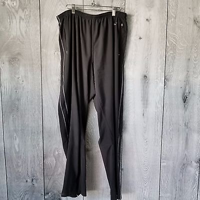 Nike Women Fit Dry Pants Size Large Running Black Zip ankle Vented side stripes