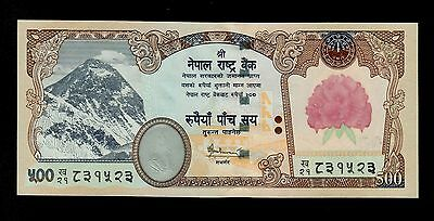 Nepal  500 Rupees  ( 2008 ) Sign. 16  Pick # 65 Unc Banknote.
