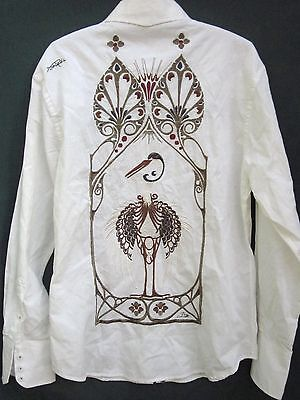JIMI HENDRIX EXPERIENCE Rock & Roll Religion SHIRT PELICAN EMBROIDERY Mens Small