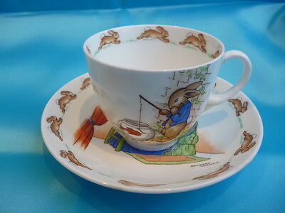Very Rare 1930s FINE WHITE CHINA Royal Doulton Bunnykins Cup and Saucer