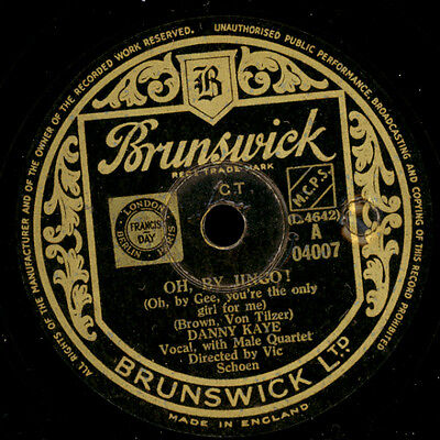 DANNY KAYE Oh, by Jingo! / The moon is your pillow  Schellackplatte 78rpm  S7980