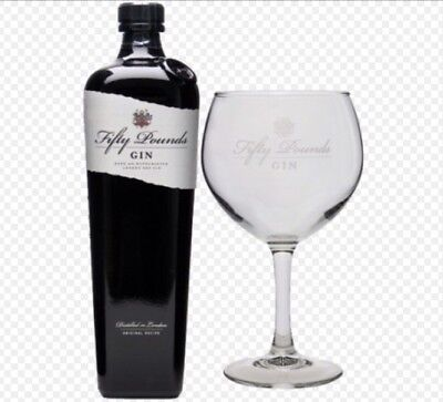 Fifty Pounds Gin Balloon Glass New