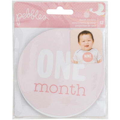 Lullaby First Year Age Stickers 12/Pkg Baby Girl Ages 1 Month Through 12 Months