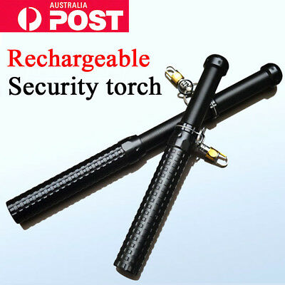 CREE Baseball Bat Guard Police Tactical LED Flashlight Zoomable Security Torch