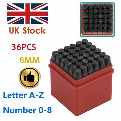 36pcs 6mm Steel Punch Alphabet Letter Number Stamp Tool Metal Leather Craft New