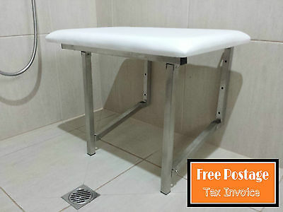 Commercial Shower Chair Seat Fold Up Disabled Aid Stainless Steel Padded