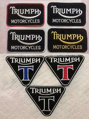 Triumph iron on Sew On Embroidered patch car motorcycle biker Brand New Badge