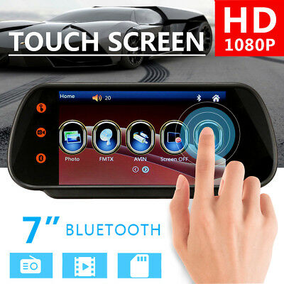 7'' LCD Touch Screen Car Stereo MP5 Player FM Bluetooth + HD Rear Camera Kit