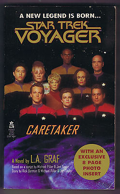 STAR TREK VOYAGER by L.A. GRAF - February 1995 1st Printing - VG Condition