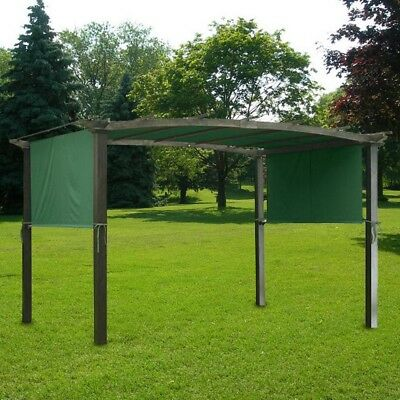 17x6.5Ft Pergola Canopy Replacement Cover Outdoor Yard Patio Green UV30+ 200g