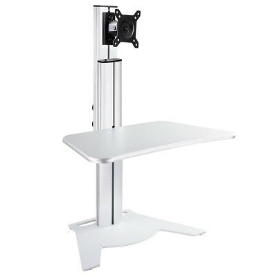 Height Adjust Sit-Stand Desk Ergonomic Office Workstation Tradeshow Monitor Rack