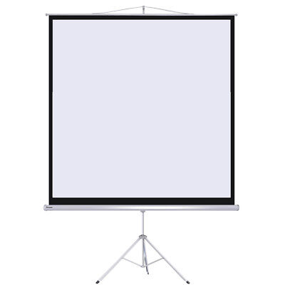 "Instahibit? 100"" Manual Tripod Stand Projector Screen Home Projection 70"" x 70"""