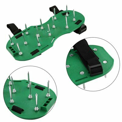 Heavy Duty Lawn Sandals Aerator - Grass Garden Aerating Shoes Spikes New UK