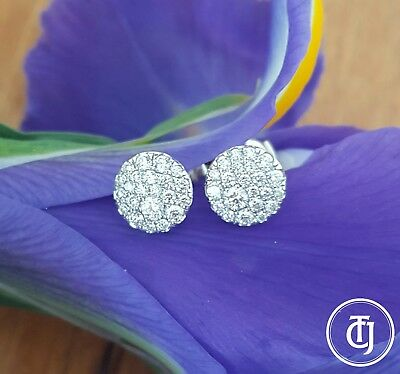 Tiffany & Co. 0.37tcw Diamond and 18ct White Gold Round Earrings RRP $5300