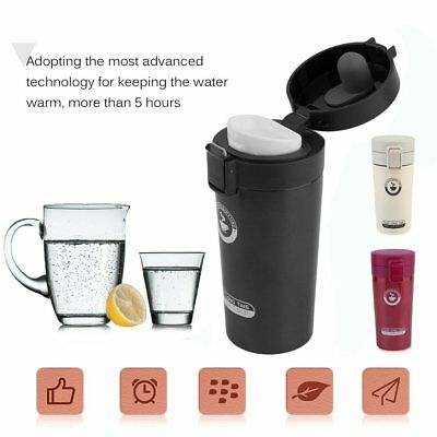 Stainless Steel Thermo Coffee Mug Cup With Lid Vacuum Car Milk Tea Bottle ET