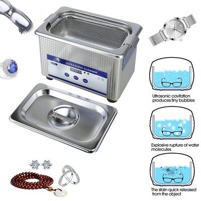 Ultrasonic Cleaning Machine Ultrasound Clener Sonic Wave For Jewelry Glasses ET