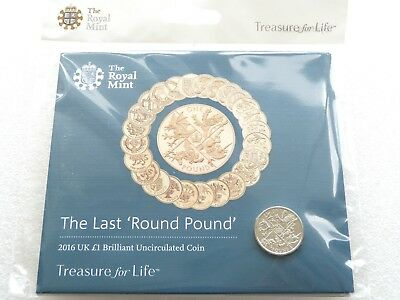 Royal Mint The Last Round Pound Coin 2016  Brilliant Uncirculated Pack