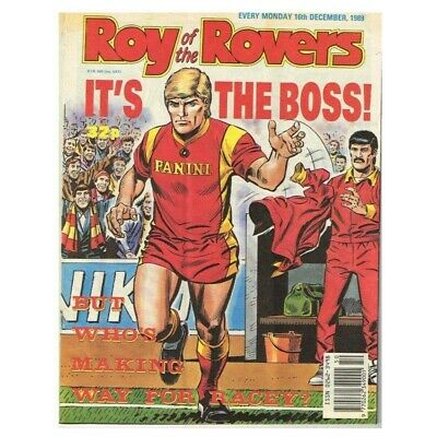 Roy of the Rovers Comic December 16 1989 MBox2797 It's the Boss! But who's makin
