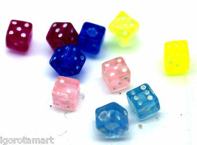 New Woman Acrylic Dice Screw Bead Square Replacement Ball Accessory Ball UK Sale