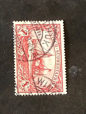 German Colonies DSW Sudwestafrika  Stamps South West Africa Yacht  1 Math Stamp