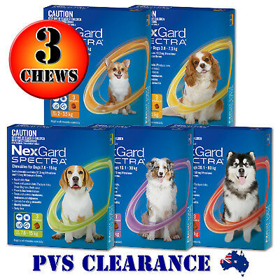 Nexgard Spectra 3 for All Size Dogs 3-Pack - Orange Yellow Green Purple Red