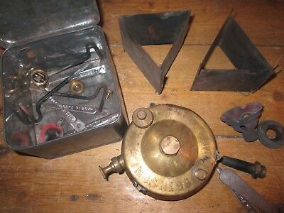 Vintage Brass Optimus No 96 Primus Stove + Original Tin & Lots of Accessories