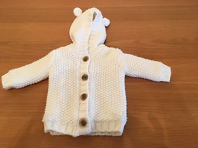 Cream Knitted Cardigan, Unisex, 0-3 Months